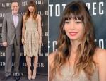 Jessica Biel In Oscar de la Renta - 'Total Recall' LA Photocall
