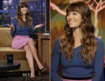 Jessica Biel In Roland Mouret - The Tonight Show with Jay Leno