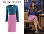 Jessica Biel's Roland Mouret Angel Dress And Jimmy Choo Anouk Patent Leather Pumps