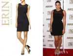 Jordin Sparks' Erin Fetherston Waisted Sleeveless Dress