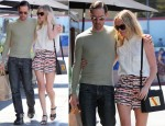 Kate Bosworth In Topshop & Equipment - Out In LA