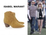 Kate Bosworth's Isabel Marant Dicker Suede Ankle Boots