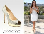 Kate Walsh's Jimmy Choo Crown Open Toe Platform Pumps