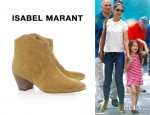 Katie Holmes' Isabel Marant Dicker Suede Ankle Boots