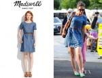 Katie Holmes' Madewell Chambray Avalon Dress