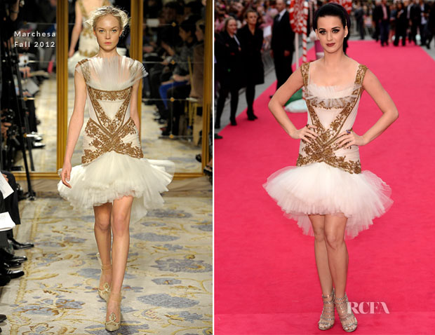 Katy Perry In Marchesa -'Katy Perry Part of Me 3D' London Premiere