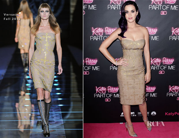 Katy Perry In Versace - 'Katy Perry Part Of Me' Sydney Premiere