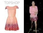 Kelly Brook's Topshop Ombre Sequin Prom Dress