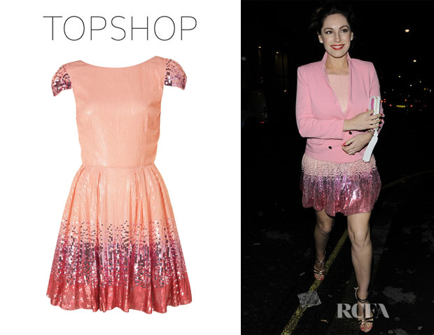 Kelly Brook\'s Topshop Ombre Sequin Prom Dress - Red Carpet Fashion ...