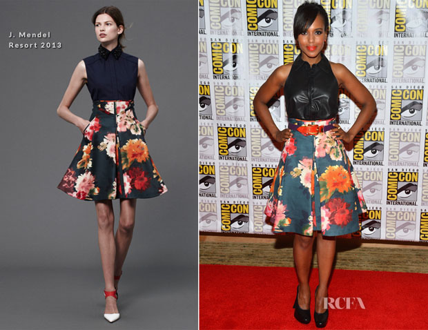 Kerry Washington In J Mendel - 'Django Unchained' Panel Comic-Con 2012