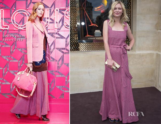 Kirsten Dunst In Louis Vuitton - Louis Vuitton Boutique Opening