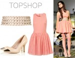 Lana Del Rey's Topshop Tulle Skirt 'Dress Up' Dress, Topshop Caged Belt And Topshop Toe Cap Pumps