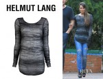 Lea Michele's Helmut Lang Distorted Mohair Sweater