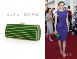 Lea Seydoux's Elie Saab Striped Clutch