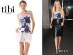 Malin Akerman's Tibi Jewel Orchid Refined Tank