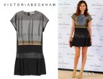 Maria Jose Suarez' Victoria, Victoria Beckham Satin And Brocade Dress