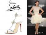 Marion Cotillard's Christian Louboutin Lady Max Spike T-Strap Sandals
