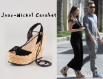 Megan Fox's Jean-Michel Cazabat Halima Ankle Wrap Sandals