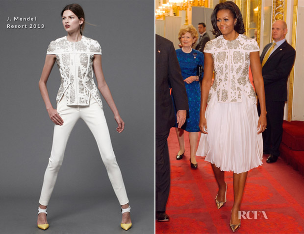 Michelle Obama In J Mendel - 2012 Pre-Olympics Reception