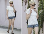 Michelle Williams In A.P.C. & Joie - Out In West Hollywood