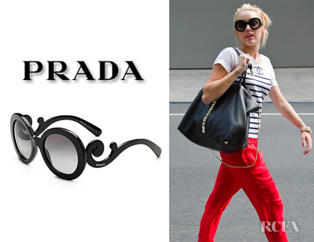 5789a9f97c609 ... coupon code for who miley cyrus wearing prada baroque sunglasses. shop  4d424 c329b