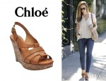 Minka Kelly's Chloé Marci Wedges