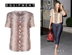 Miranda Kerr's Equipment Snakeskin Riley T-Shirt