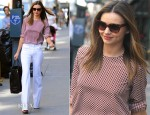 Miranda Kerr In Equipment & Stella McCartney - Out In New York