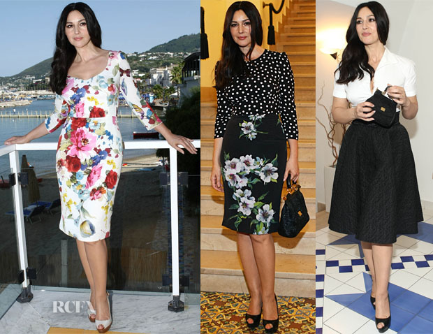 53b27c764 Monica Bellucci In Dolce & Gabbana – Ischia Global Film Festival. Monica  Bellucci ...
