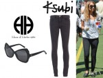 Nicole Richie's Ksubi Super Spray On Jeans And House of Harlow 1960 Dancer Sunglasses
