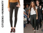 Nikki Reed's Citizens of Humanity Rocket Leatherette Jeans