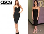 Olivia Munn's ASOS Strapless Dress