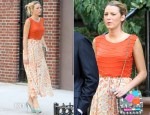 On The Set Of Gossip Girl With Blake Lively In Alice + Olivia