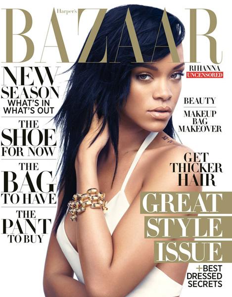 Rihanna Harper's Bazaar August 2012 Cover
