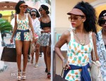 Rihanna In Topshop - Shopping In Porto Cervo