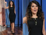Salma Hayek In Alberta Ferretti - Late Night With Jimmy Fallon