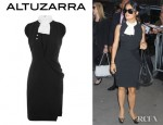 Salma Hayek's Altuzarra Luke Crepe Dress