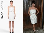 Selma Blair's Marc Jacobs Strapless Silk Dress