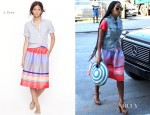 Solange Knowles In J. Crew - Out In New York City