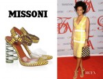 Solange Knowles' Missoni Knitted And Perspex Sandals
