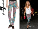 Stacy Keibler's 7 For All Mankind Skinny Print Jeans