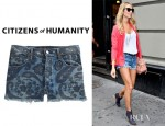 Stacy Keibler's Citizens of Humanity Chloe High Waist Cut-off Shorts