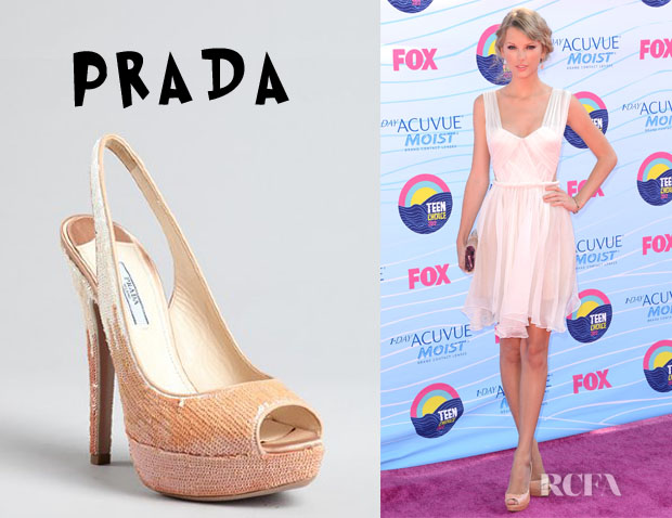 Taylor Swift's Prada Sequin Platform Pumps