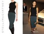 Thandie Newton's Stella McCartney Two Tone Stretch Jersey Peplum Dress