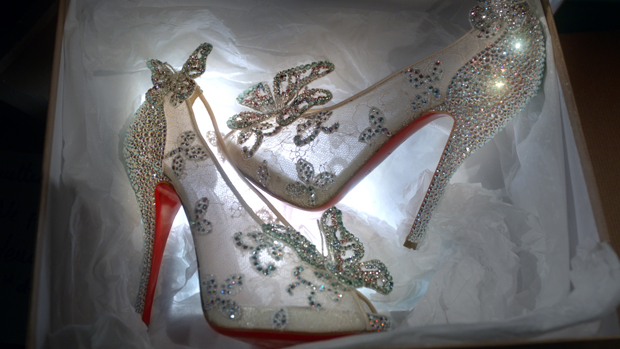 christian louboutin cinderella butterfly shoes