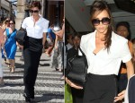 Victoria Beckham In Jil Sander & Maison Martin Margiela - Shopping In Paris