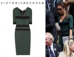 Victoria Beckham's Victoria Beckham Striped Silk Blend Stretch Crepe Dress