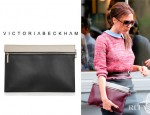 Victoria Beckham's Carven Sweater & Victoria Beckham Two Tone Leather Pouch
