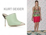 Whitney Port's Kurt Geiger Mules With Silver Toe Caps
