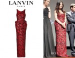 Zhao Wei's Lanvin Floral Brocade Gown
